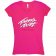 Travis Tritt Ladies Raspberry V Neck Tee