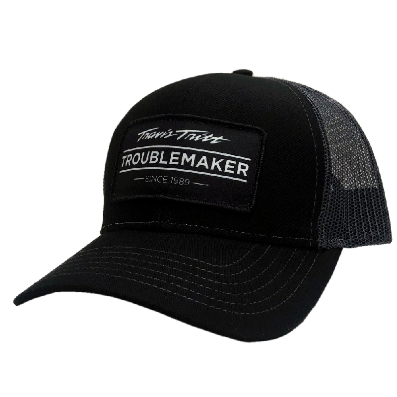 Travis Tritt Troublemaker Black and Charcoal Ballcap