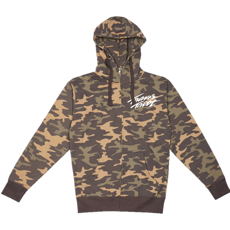 Travis Tritt Camo Zip Up Hoodie