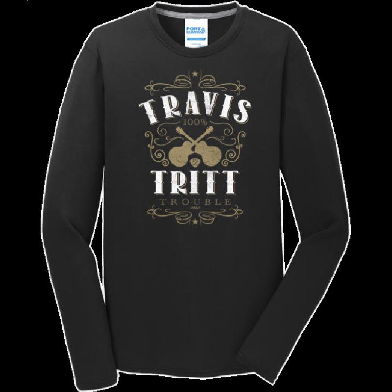 Travis Tritt Long Sleeve Black Tee