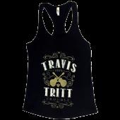 Travis Tritt Black Racerback Trouble Tank