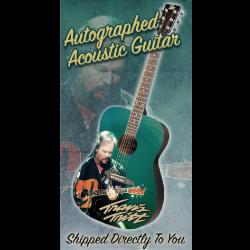 Travis Tritt Autographed Guitar