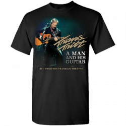 Travis Tritt Black Live Tee-  A Man and His Guitar
