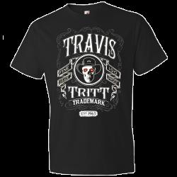 Travis Tritt Black Skull Tee