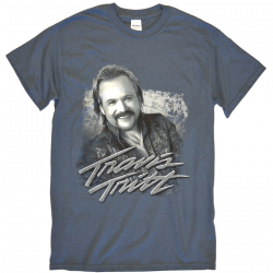 Travis Tritt Indigo Blue Tour Tee- Duo Tone Photo
