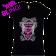 Travis Tritt Ladies Black V Neck Rhinestone Fashion Tee